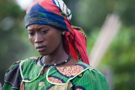 A Congolese woman at the Bompata Encampment, Democratic Republic of the Congo (DRC). Photo credit: Marie Frechon/United Nations.